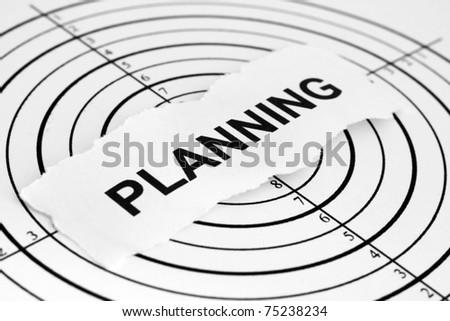 Planning target - stock photo