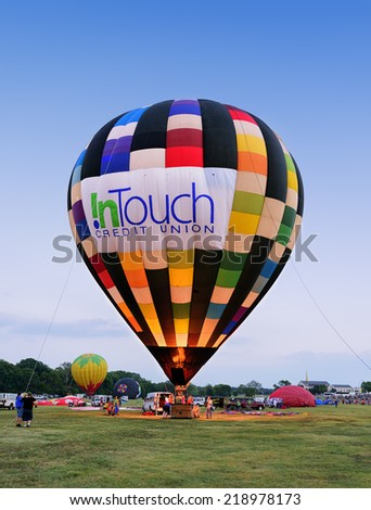 Plano Balloon Festival, TX - September 19, 2014: Plano Balloon Festival, one of the city's largest celebrations is held each September, drawing in excess of 90,000 attendees on September 19, 2014.