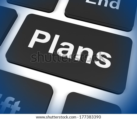 Plans Key Showing Objectives Planning And Organizing