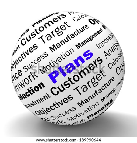 Plans Sphere Definition Showing Customers Target Arrangement Or Aim