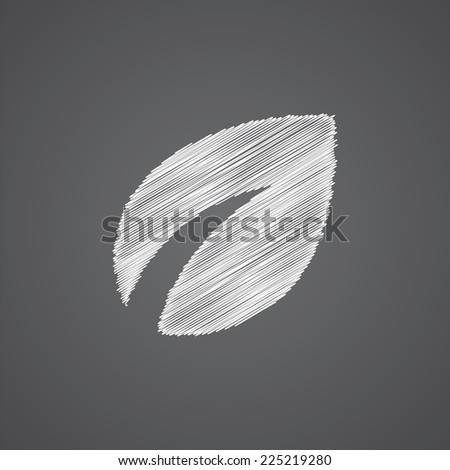 plant sketch logo doodle icon isolated on dark background