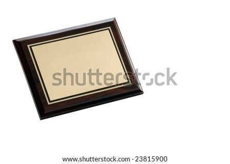 Plaque - stock photo