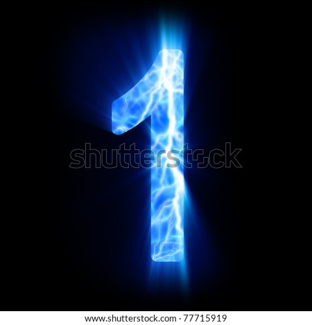 Plasma numeral. - stock photo