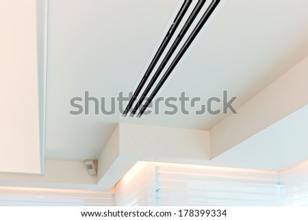 Plaster ceiling with grating the air conditioner