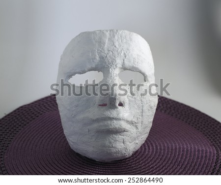 Plaster face mask - stock photo