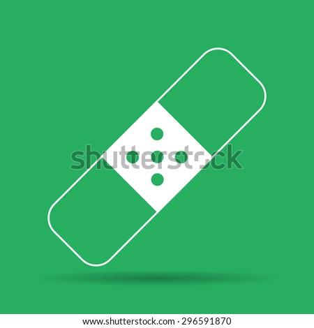Plaster icon. Flat design styled. Flat  illustrator - stock photo