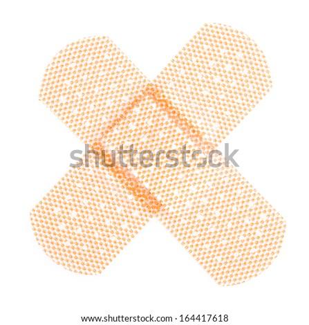 Plaster on isolated white background - stock photo