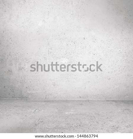 Plaster wall corner of industrial room - stock photo