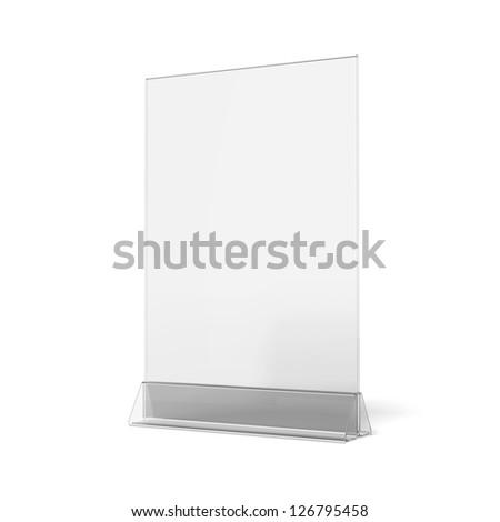 Plastic ad plate - stock photo
