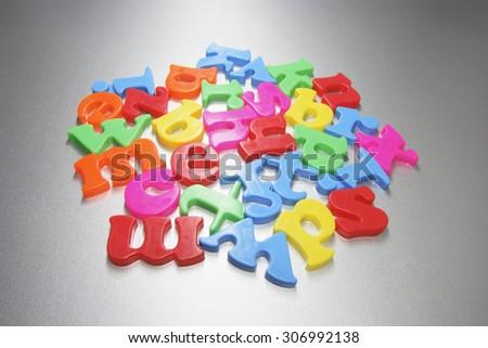 Plastic Alphabets - stock photo