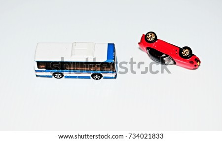 Plastic Metal Car Model Accident Simulation Stock Photo (Download ...