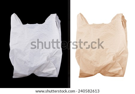 Plastic and paper bag