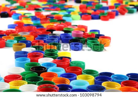 plastic background (from color pet caps)