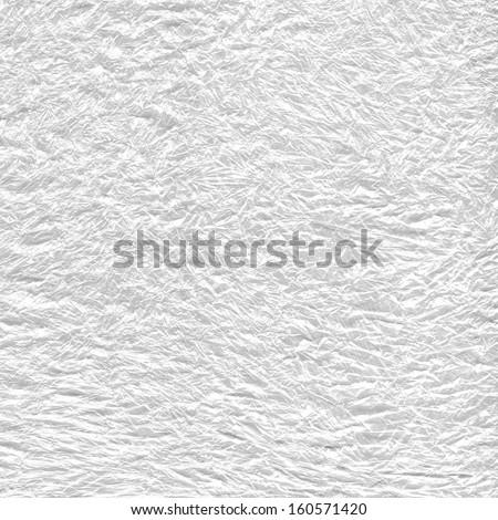 plastic bag, ice, paper texture background - stock photo