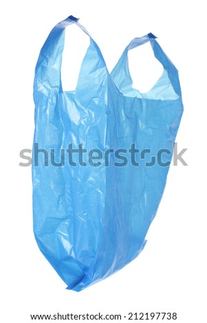 Plastic Bag on White Background - stock photo