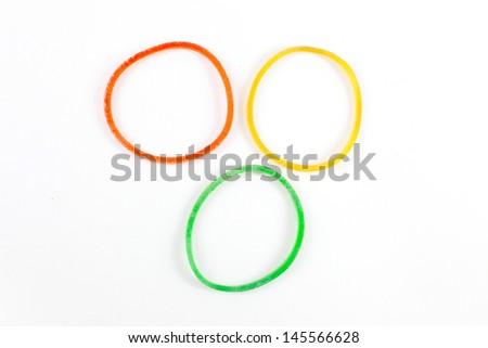 plastic band  - stock photo
