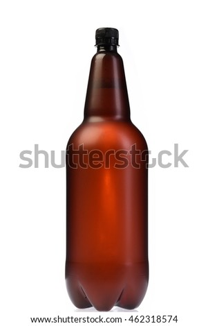 Plastic beer bottle of 2 liters