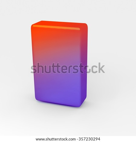 plastic block, gradient colors  - rendered 3D Illustrations - stock photo