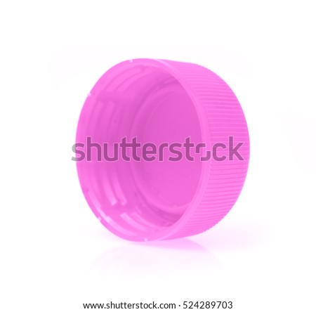 Plastic bottle caps isolated on white background