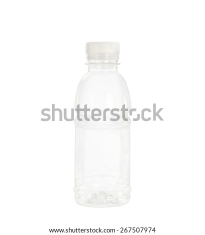 Plastic bottle container isolated on white background. - stock photo