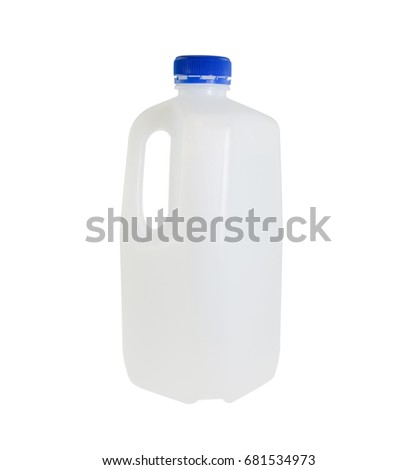 Plastic bottle container isolated on white background.