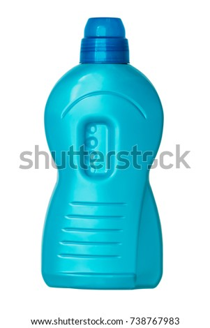 plastic bottle for shampoo isolated on the white