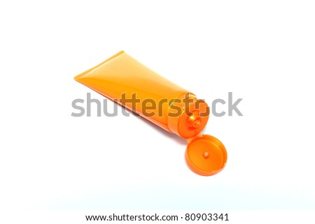 Plastic bottle isolated on a white background