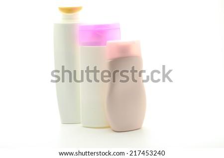 plastic bottle isolated on white background - stock photo