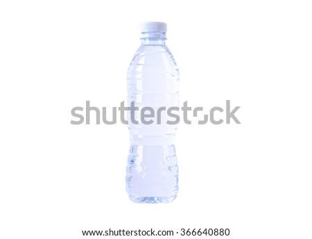 Plastic bottle isolated on white background. - stock photo