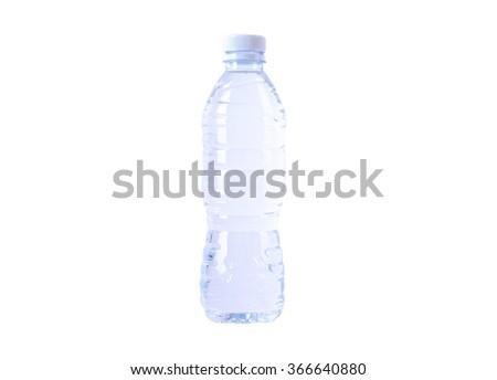 Plastic bottle isolated on white background. - stock photo