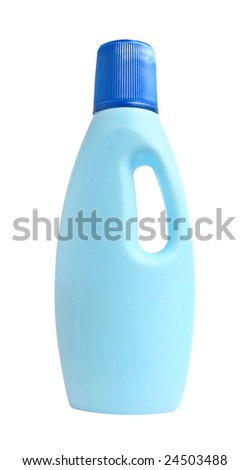 Plastic bottle on a white background.