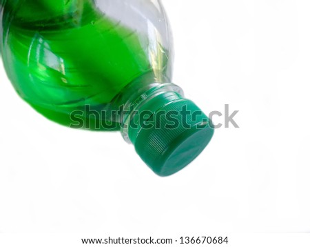 Plastic bottle with a drink.