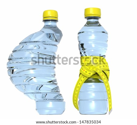 Plastic bottle with meter