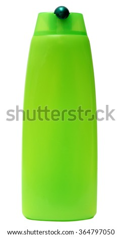 Plastic Bottle with Shampoo or hygienic cosmetic product, isolated on white background - stock photo