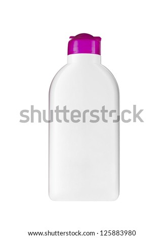 Plastic bottle with soap or shampoo - stock photo