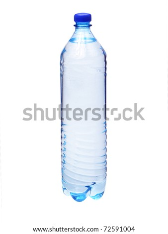 Plastic bottle with water isolated
