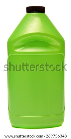 Plastic bottles from automobile oils isolated on a white background  - stock photo