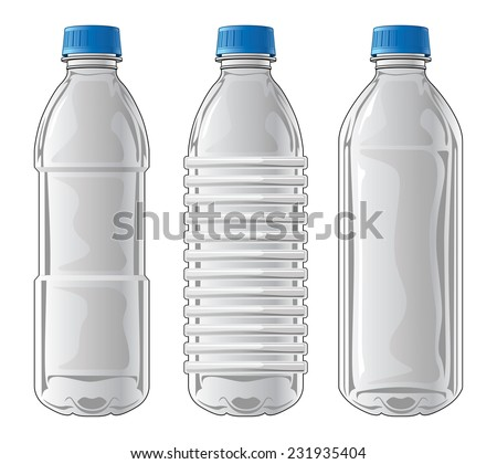 Plastic Bottles Illustration Three Types Clear Stock ...