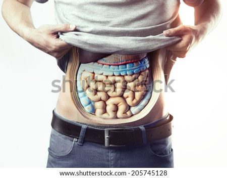 Plastic bowels - stock photo