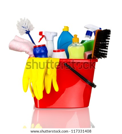 Cleaning Supplies Clip Art Plastic bucket with cleaning