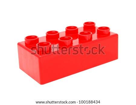 Plastic building blocks - stock photo