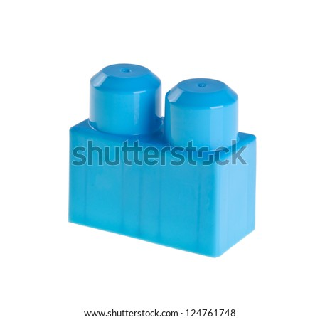Plastic building blocks on a background