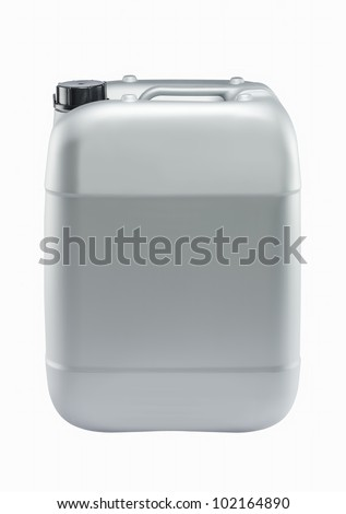 Plastic can isolated on white background - stock photo