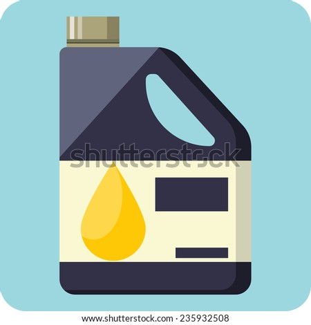 Plastic Canister of Motor Oil  - stock photo