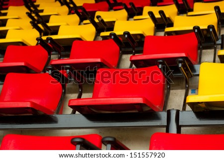 plastic chairs pattern background - stock photo