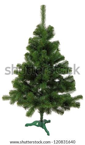 plastic christmas tree isolated on white background - Plastic Christmas Tree