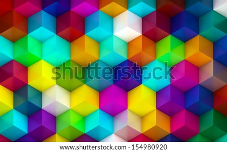 Plastic Colorful Cubes Background - stock photo