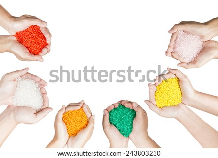 Plastic compound beads - stock photo