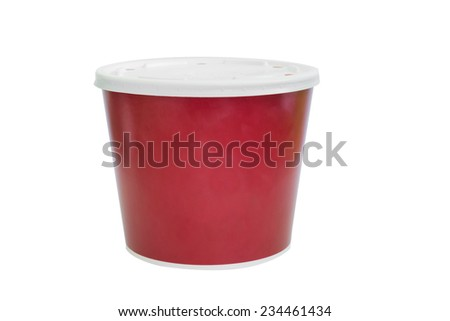 Plastic container for foods. Isolated on a white.