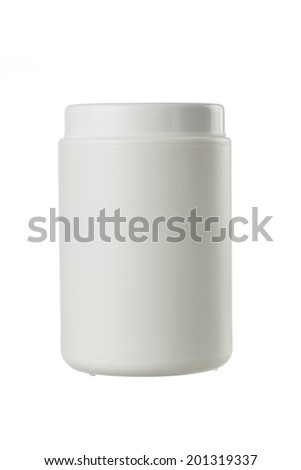 plastic container for ointment isolated on white